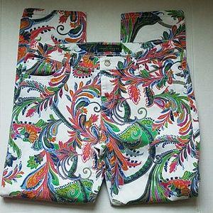 [Lauren Ralph Lauren] Paisley Print Jeans Size 10